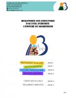 règlements structures accueil Branderion